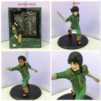 1pc/lot High Quality Naruto Anime Lee Action Figures 2 Head Styles Fight Kid PVC Collections Figures Toys For Boys With Box 14cm