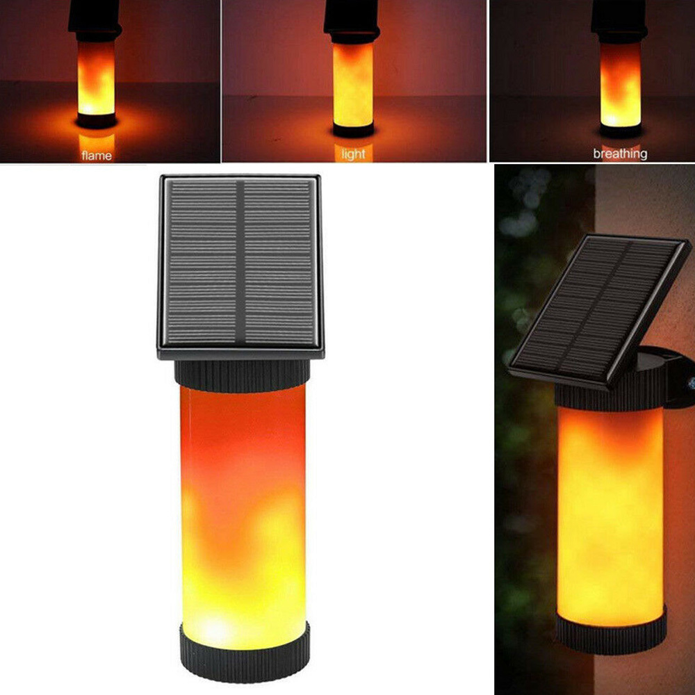 LED Solar Path Torch Dancing Flame Light Flickering Garden Outdoor Lamp Lawn Lamp Garden Landscape Light New