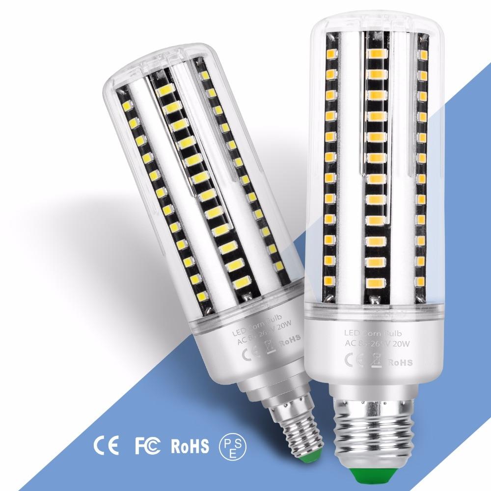 Led Corn Lamp E27 5736 Led E14 Corn Bulb 220V AC85~265v Smart IC Aluminum 110V Led Light 5W 7W 9W 12W 15W 20W 25W Home Bombillas