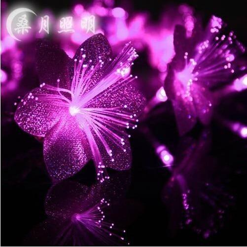 Fiber Optic Blossom Led String Lights Plug In Multi Color : Aliexpress.com : Buy 10M LED String Fiber Optic Flower Fairy Lights String Lamp Light Christmas ...