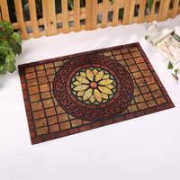 Top qualité en caoutchouc naturel bienvenue paillasson taille 60x90 cm tapis extérieur cuisine tapis salle de bains tapis de sol antidérapant maison décorer tapis