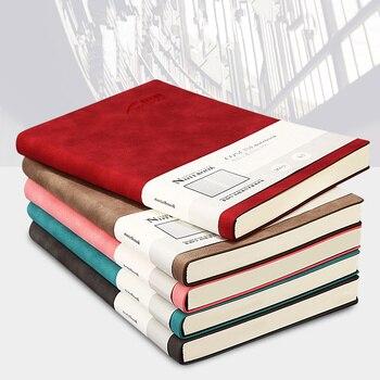 Caderno de Couro artigos de papelaria de registro de reunião de negócios A5 Jornal Diário De Papel Notepad bala Planejadores agenda Escolar escritório Presente