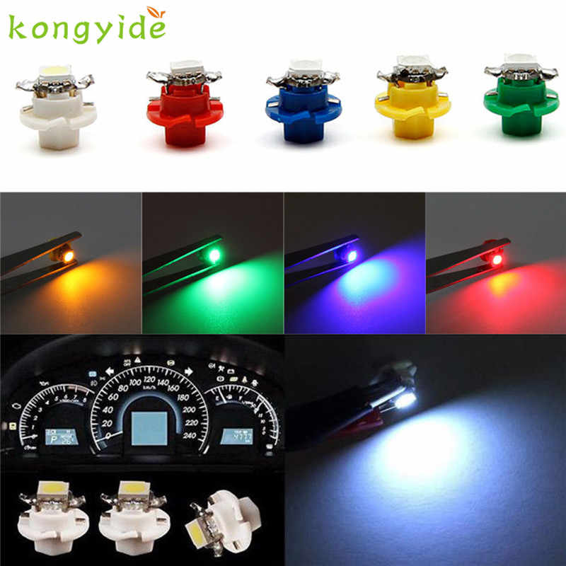 AUTO car-styling 1X White B8.4D 5050 1-SMD Dash LED Truck Tail fog Lights LED HID ERROR FREE Car Side Wedge car styling SE 12
