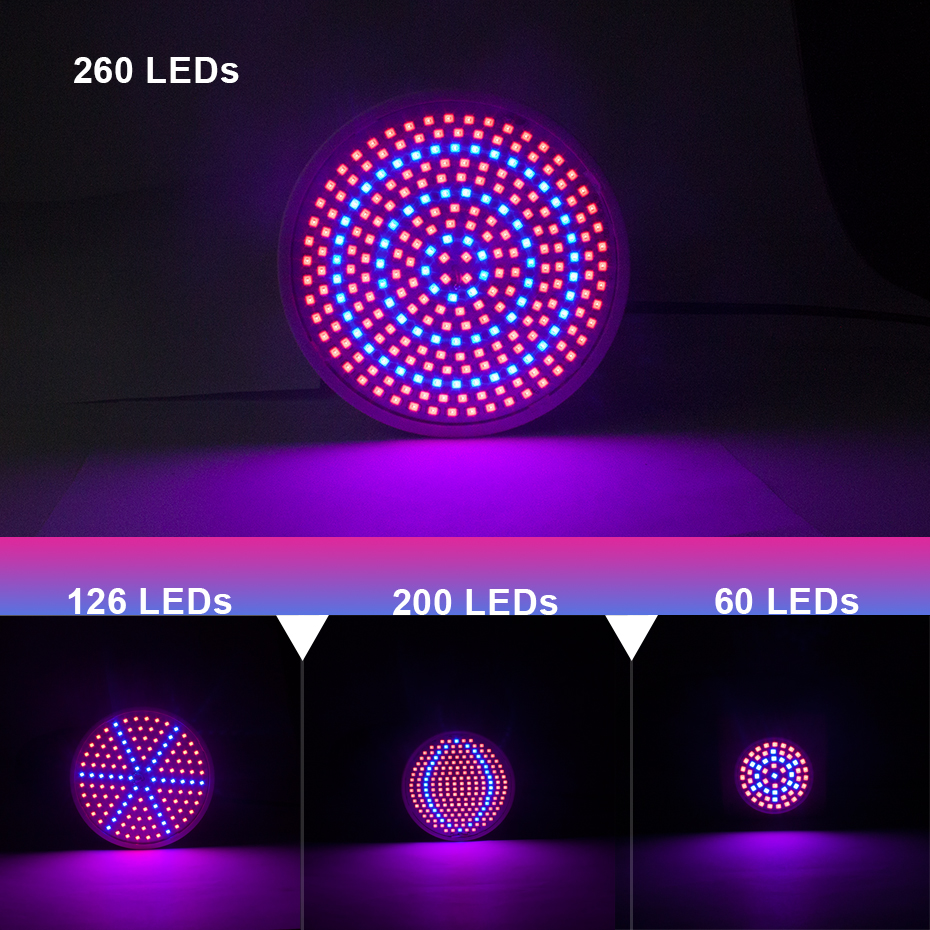 AC85-265V Phyto Led Hydroponic Growth Light E27 Led Grow Bulb Full Spectrum E27 SMD2835 Plant Lamp For Indooe Flowers Seedling
