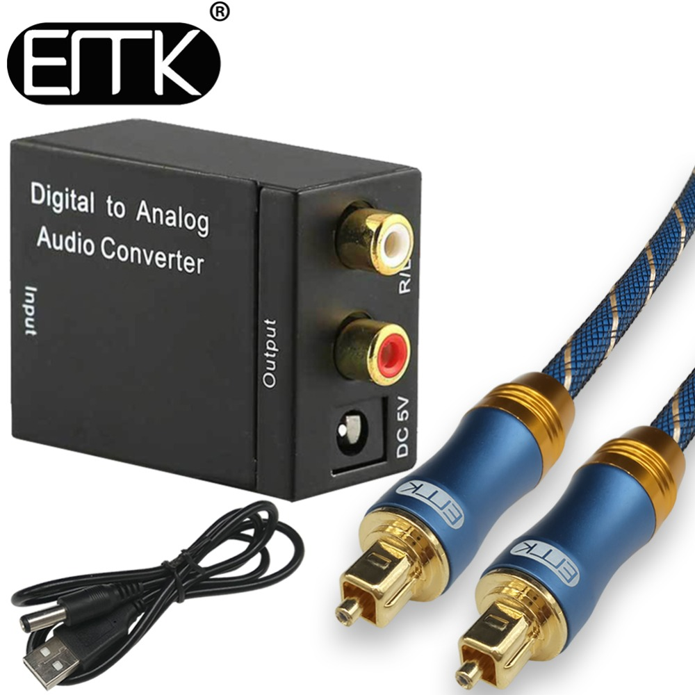 Digital to Analog Audio Converter Adapter Digital Optical Fiber Coaxial RCA Toslink Signal to Analog Audio Converter RCA for DVD analog to digital converter for high speed and low power application