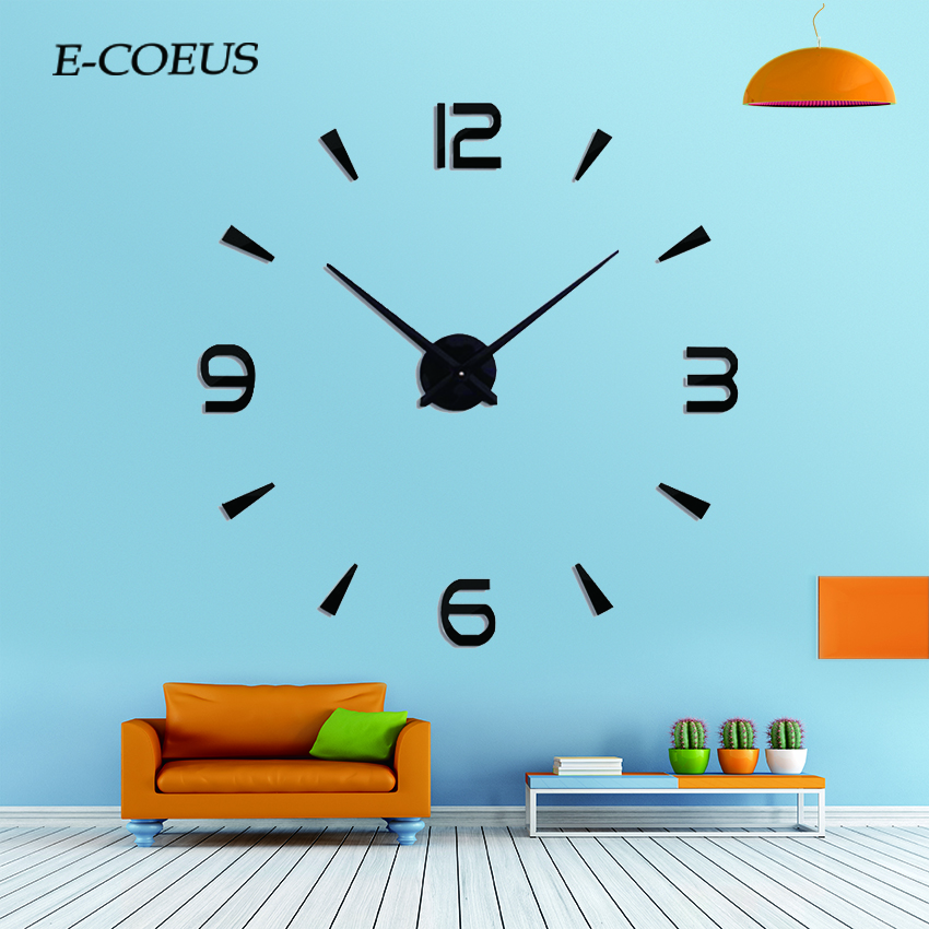 New Size New Black Color Wall Clocks Home Decor Movement Mechanism Parts Repair Replacing Tools Quiet Silent Watch Wall Clock in Wall Clocks from Home Garden