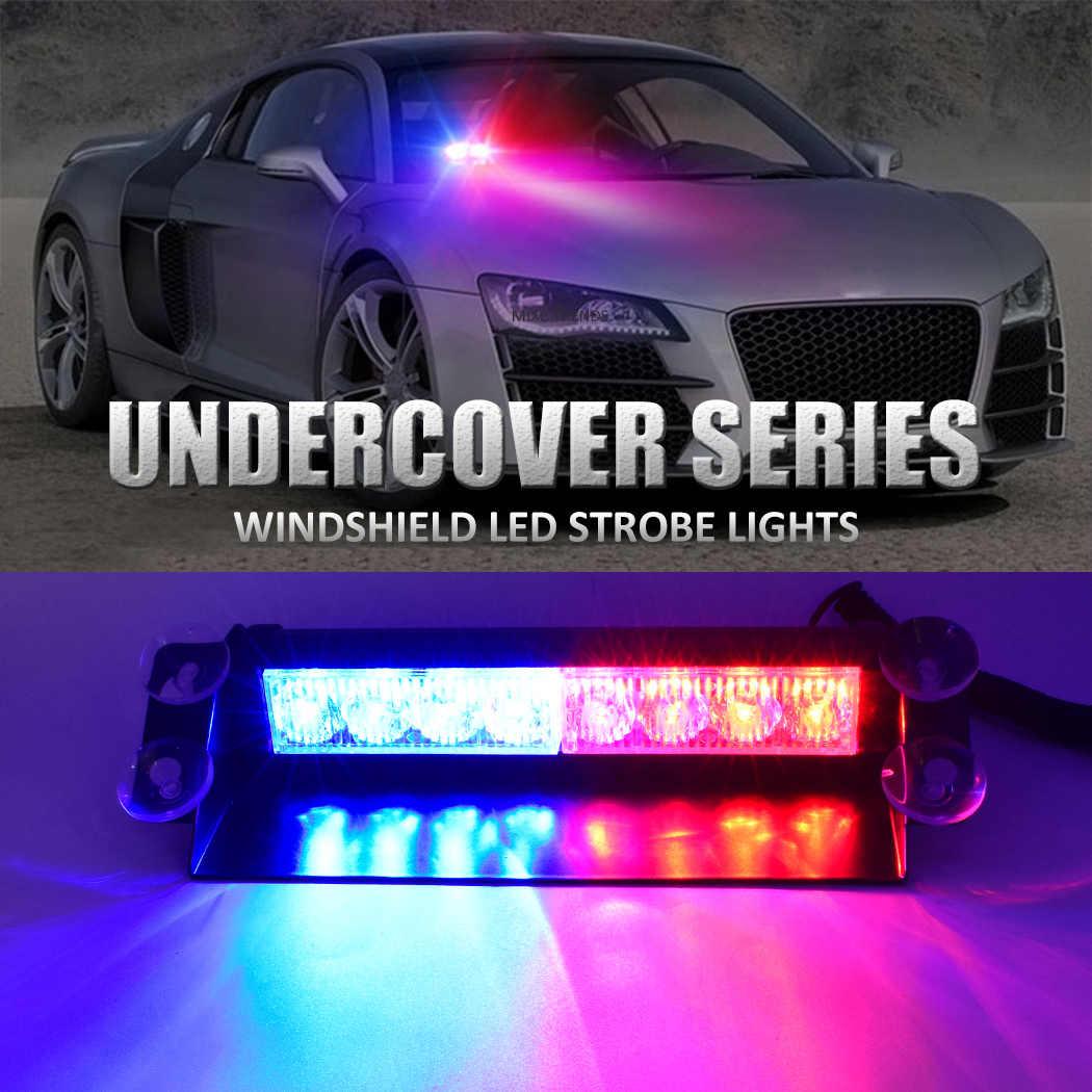 1 stücke 8 LED Auto Dash Dashboard Windschutzscheibe Notfall Warnung Flash-Polizei Strobe Licht mit 12 v Zigarette Leichter und saugnäpfe