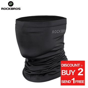 ROCKBROS Absorb Sweat Hiking Scarves Bandana Breathable Camping Scarf Neck Gaiter Running Cycling Bicycle Bandana Men Face Mask