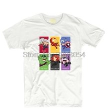 The Avengers Assemble Superhereo Thor Hulk Iron-man Mens & Womens Novelty Tee Retro T Shirt