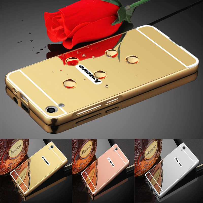 For Lenovo S850 Case Luxury Plating Mirror Aluminum Metal Case for Lenovo S850 S 850 Hard PC Back Cover Phone Cases