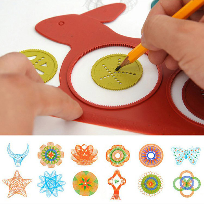 Student Cute Creative Tortoise Rabbit Shape Plastic Template Ruler For Kids Drawing Painting Tool School Supplies 4038