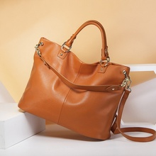 OL Lady Bag Women Blue Handbags Tote Bag New Brand Crossbody Bag Genuine Leather Designer Organizer Sac A Main Femme De Marque