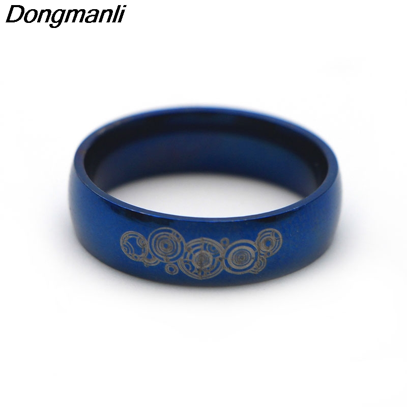 P867 Dongmanli 6mm Width Together Forever Doctor Who Couple ring Men and Womens Fashion stainless steel Ring for Wedding ...