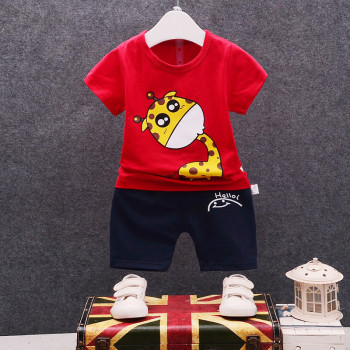 Newborn cartoon baby boy clothing set summer new style 1