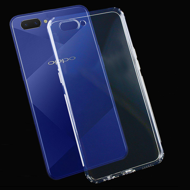 7cd3adaede For OPPO A5 /A3 /Realme 1 Case Slim Clear Transparent Cover Soft Gel TPU  Silicone Mobile Phone Protective Shell PADM00 PADT00