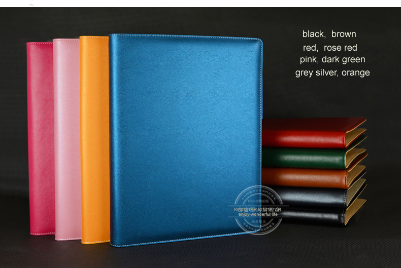 A4 Business Office PU Leather Manager File Folder A4 Agreement Menu Folders Organizer With Ring Binder 645