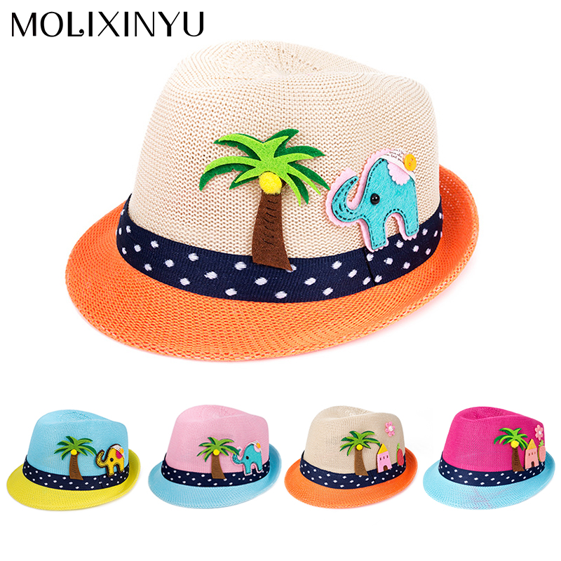Original Reakids Beach Panama Caps Straw Hats Kids Flower Bow Summer Cap Baby Sun Hat For Girl Bucket Cap For Children Hat Girls' Baby Clothing Hats & Caps