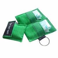 850 шт./лот CPR Resuscitator маска CPR ЖИЗНЬ КЛЮЧ уход за кожей лица щит с One Way аварийно спасательных комплект зеленый цвет чехол Wraped