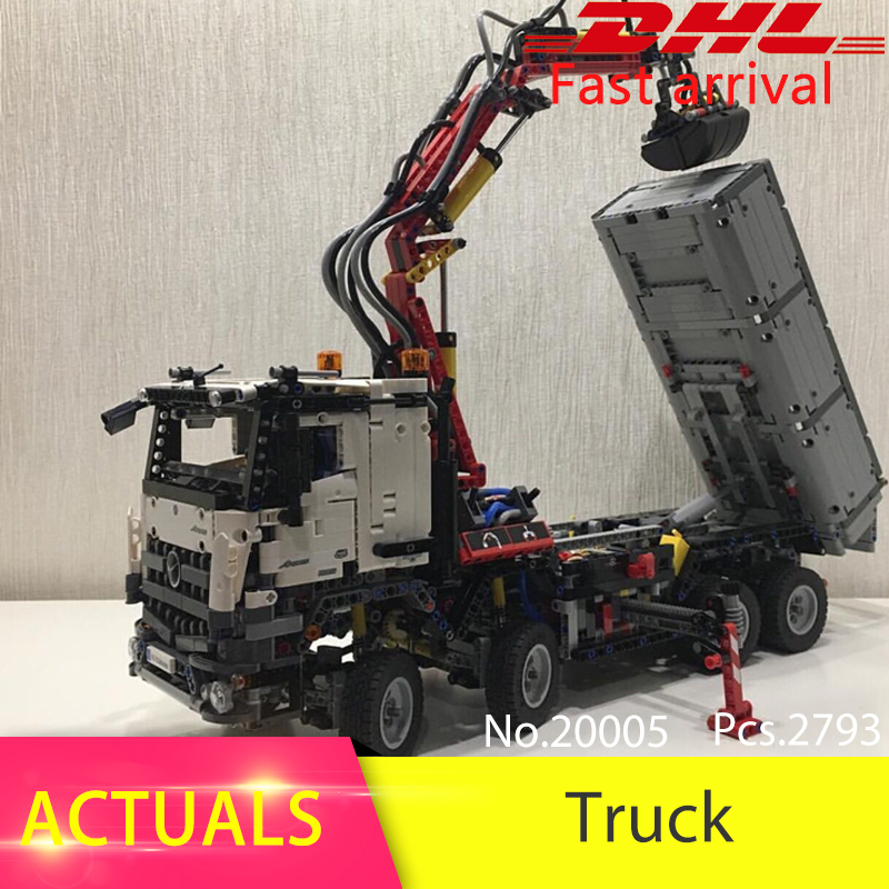 Lepin 20005 2793pcs Technic series Arocs Truck Model Building Blocks Bricks Toys For Children Compatible 42023 Boys Gift 2017 enlighten city series garbage truck car building block sets bricks toys gift for children compatible with lepin