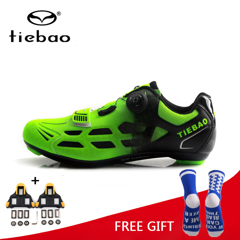 Tiebao MTB Road Cycling Shoes Men Women Racing Bike Self-Locking Shoes Sneakers Bicycle Breathable Professional Athletic Shoes стоимость