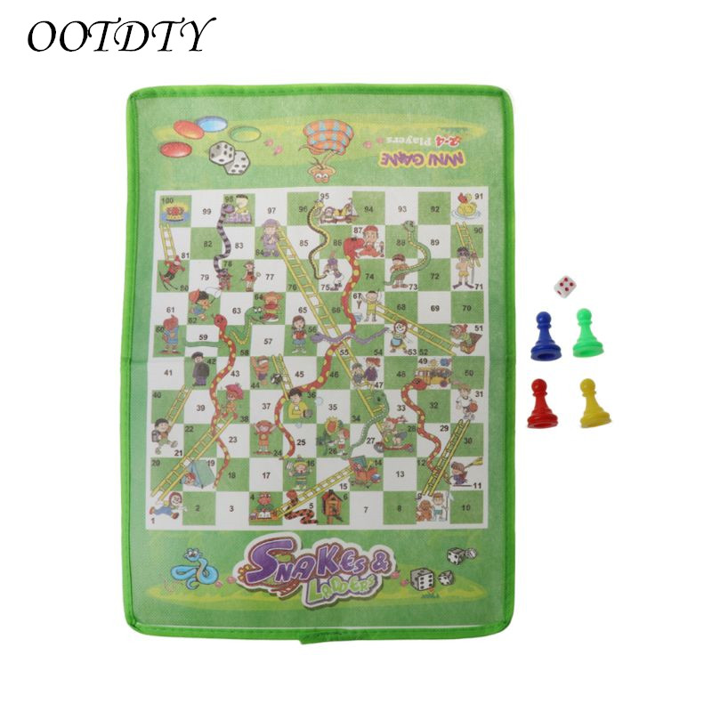 Snake And Ladder Kids Flying Chess Non-woven Fabric Portable Family Board Game Table Game Accessories