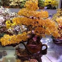 Большой Кристалл деньги дерево бонсай стиль Фортуна Удача удача фэн шуй приносит удачу Домашнее украшение подарок на день рождения