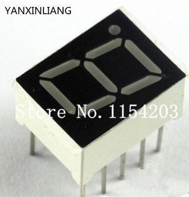 50 PCS 0.56 polegadas Cátodo Comum de 1 Dígitos 7 Seven Segment Red Light  LED Digital tubo 88b3a7ae4f