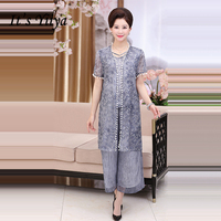 It's Yiiya Mother of the Bride Dresses Plus Size Embroidery 3 piece set Fashion Designer Lace Elegant Mother Dress M003