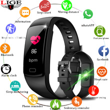 LIGE 2019 New Smart Watch Men Heart rate Blood Pressure Monitor fitness tracker Bracelet Sports pedometer band