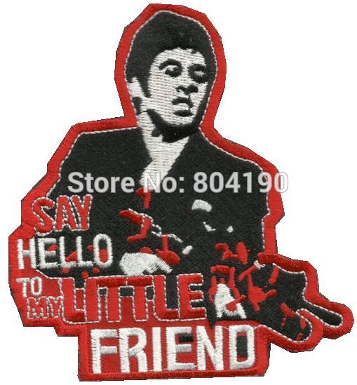 Say Hello To My Little Friend Combat Tactical Movie Tv Badge Morale