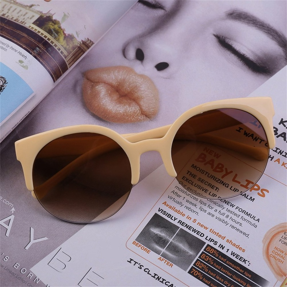 Newest Semi-Rimless Sunglasses Women Brand Designer Clear Lens Sun Glasses For Women Fashion Sunglass Vintage 2016 new tinize rimless polarized sunglasses driving ultra light titanium rimless aviation sun glasses mengafas de sol hombre