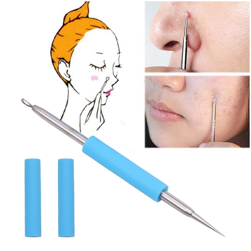 BearPaw Acne Remover Needle 1pcs Facial Acne Pimple Extractor Blackhead Remover Tool Comedone Pimple Remover Stainless Steel