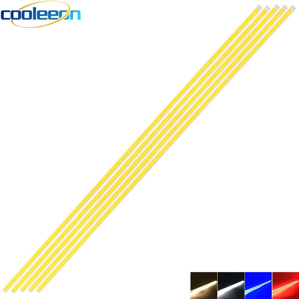 5pcs 60CM 12V COB LED Strip Lamp 20W Warm Cold White Blue Red Color Dimmable LED Bar Light 600MM For Lighting Decor Bulb DIY