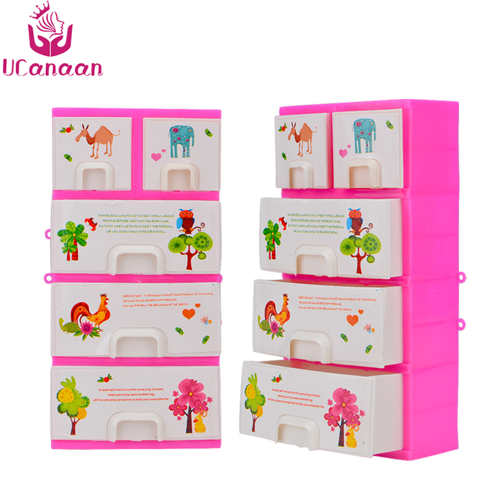 UCanaan 18 CM Kleiderschrank Schließfächer Möbel für Barbie-puppe ...