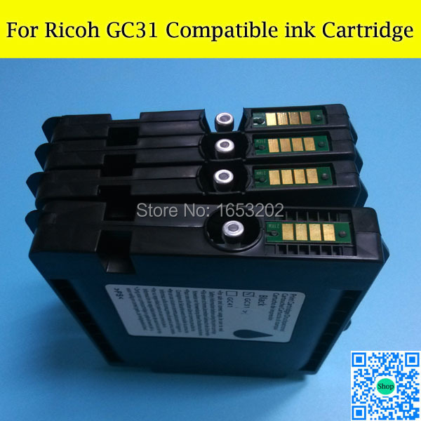 1 Set GC31 Compatible Pigment Full Ink Cartridge For Ricoh GXE3300 GXE5500 GXE2600 GXE5050N GXE5550N Printer in Ink Refill Kits from Computer Office