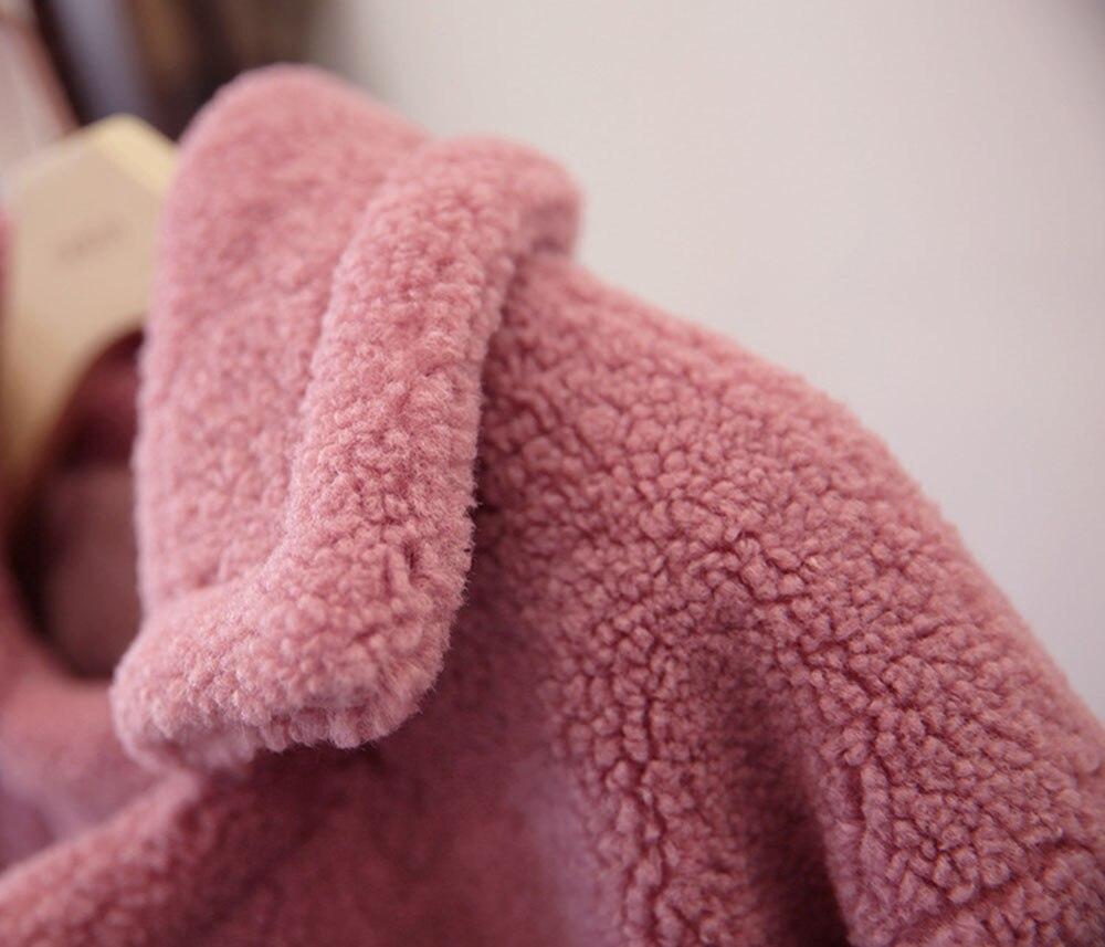 Longues Coupe rouge Grande Taille Laine Manteau Nouveau Vêtements Manteaux Outerware Fourrure À Chaud De Manches Noir rose Veste 2019 Femelle camel vent Printemps Femmes En Automne nwaPcAScq