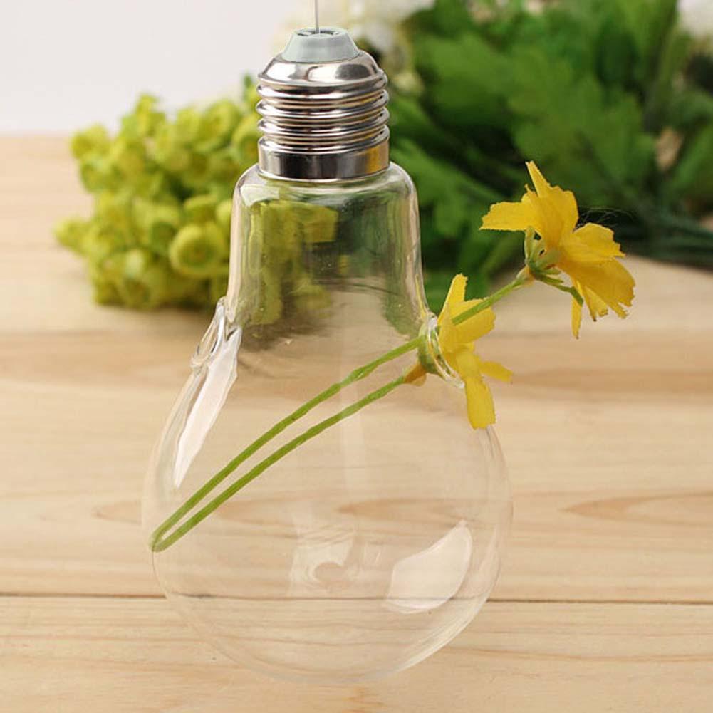 Wall Hang Glass Flower Plant Vase Terrarium Container Home Garden ...