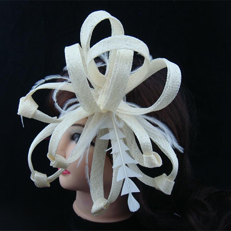 Sinamay чародейные шляпы хорошие Свадебные шляпы очень красивые головные уборы Дерби для женщин 20 цветов можно выбрать MSF095