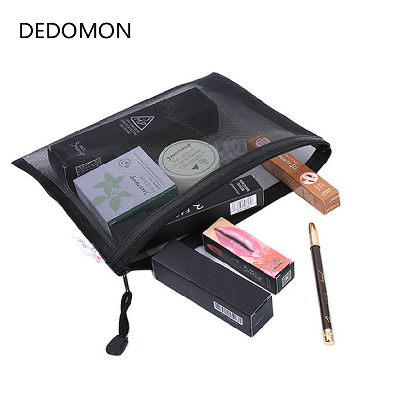 Casual Travel Cosmetic Bag Women Zipper Make Up Transparent Makeup Case Organizer Storage Pouch Toiletry Beauty Wash Kit Bags fashion women travel cosmetic bags pvc clear leaf makeup organizer lady large necessary toiletry beauty case wash kit bags pouch
