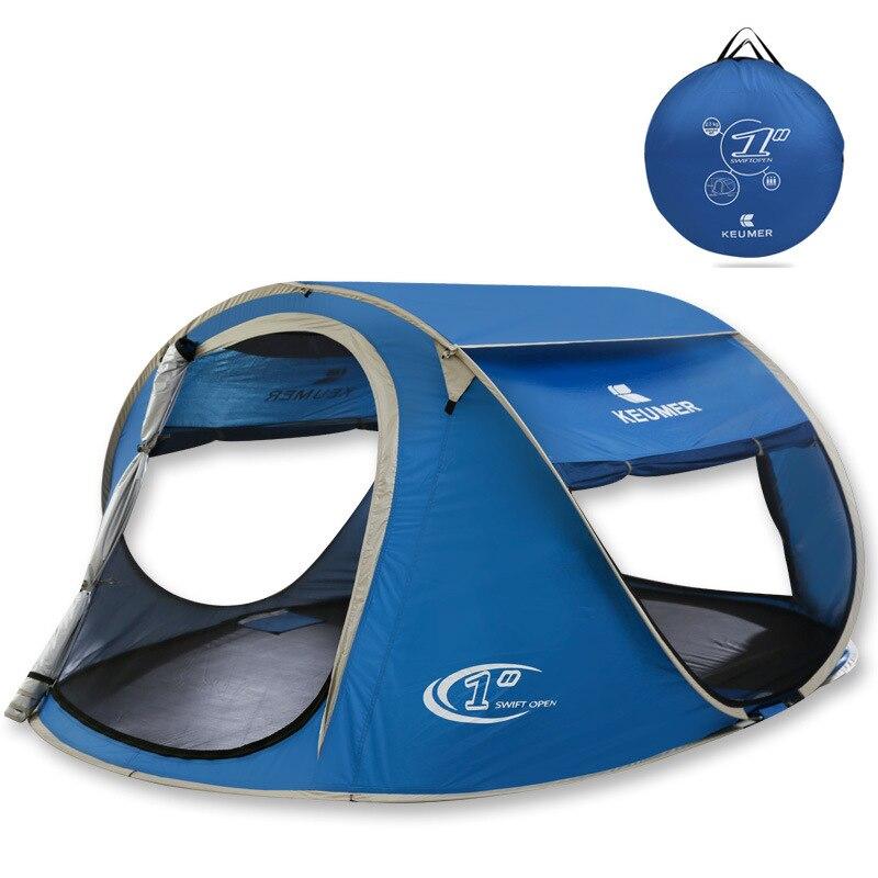 2018 Nouveau Style 3 Personne Utiliser Automatique Pop Up Confortable Protection UV Camping Tente Plage Tente