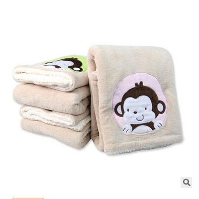 High quality! flannel baby blankets newborn Coral fleece + lambs wool Super Soft Cartoon Blankets76 x 102 cm for children Beds T