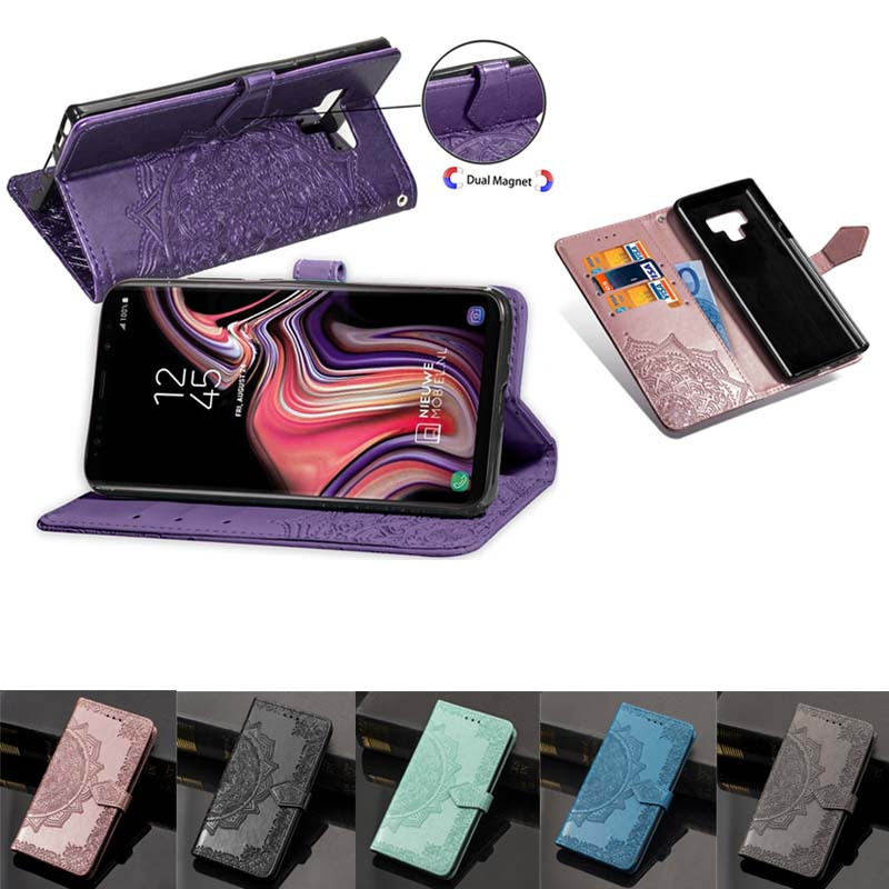 Note9 Flip Coque Cover Case for Samsung Galaxy J3 J5 <font><b>J7</b></font> S6 S7 Edge S8 S9 Plus Note 9 8 2016 <font><b>2017</b></font> A520 A6 Plus 2018 Wallet Cases image