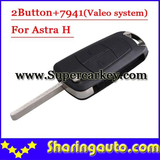 bilder für Freies verschiffen (1 stück) 2 Knopf-schlag-fernschlüssel 433 MHZ Für Opel Astra H Mit PCF7941 Chip mit guter qualität