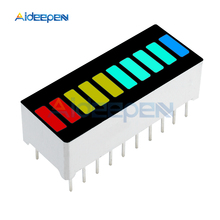 5Pcs 10 Segment Full Color LED Bargraph Light Display Module Bar Graph Display Ultra Bright Red Yellow Green Blue