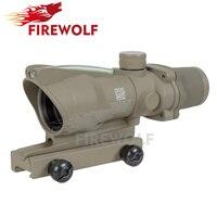 Outdoor Sports Trijicon ACOG 4X32 Tan Fiber Source Green Illuminated Scope Tactical Hunting Riflescope Free Transport