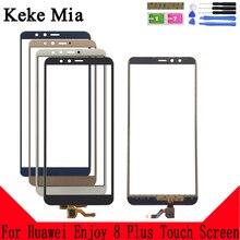 Keke Mia 5.93 Phone Front Glass For Huawei Enjoy 8 Plus Touch Screen Digitizer Panel Lens Sensor Tools Adhesive+Wipes