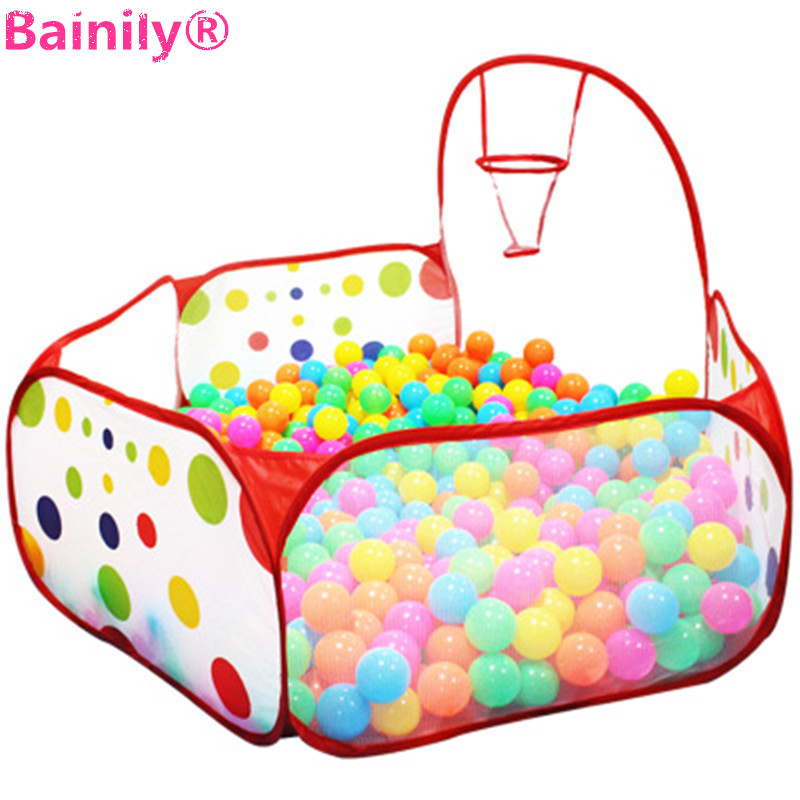 [Bainily]Baby 90cm Foldable Kids Children Educational Ocean Ball Pit Pool Game Play Outdoor Indoor portable Toys Tent