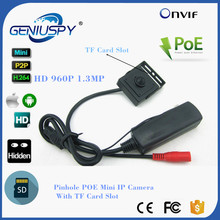 1.3MP 960P HD Security Mini Network Cctv Camera,Covert MINI IP CAMERA POE SD Card Recording IP Camera Onvif Support TF Card