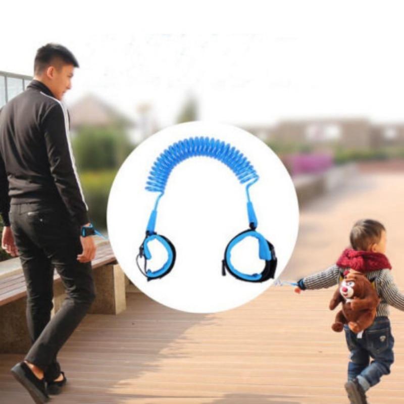 Kanak-kanak keselamatan laras abah-abah kanak-kanak tali rantai anti-hilang pautan kanak-kanak tali pinggang berjalan penolong bayi walker gelang 1.5m / 2/2