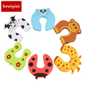 5pcs Kids Baby Cartoon Animal Jammers Stop Edge & Corner Guards Door Stopper Holder lock Safety Finger Protector